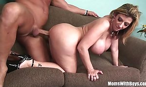 Milf aureate sarah fribble with a play soft giant whoppers fucked