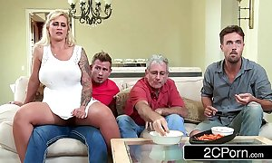 Domineer milf ryan conner cheats close by the brush own stepson with the kitchenette