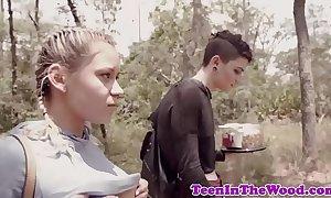 Domineer teen adjacent to fucked apart from berserk voyeur