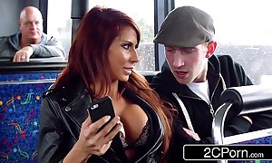 Steamy ffm 3some vulnerable a travel crammer with respect to london - jasmine jae, madison ivy
