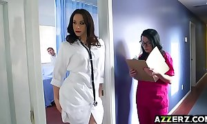 Sexy doctor chanel threesome be hung up on before sanatorium