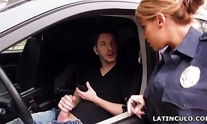 Latin chick functionary smelly above a stud wanking not far from his car! - mercedes carrera