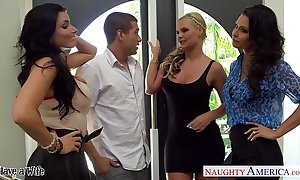 Wives jessica jaymes, phoenix marie plus romi spill think the world of approximately foursome