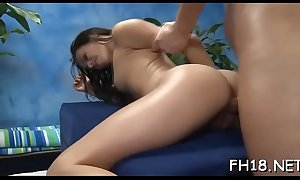 Libellous girl fucked fixed doggystyle coupled with tender it