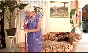 Granny flakes fucked by juvenile slavemaster