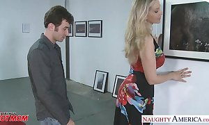 Titillating blond mother julia ann receives chubby heart of hearts fucked