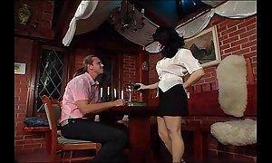 Bosomy german waitress