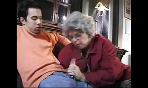 Granny german sexually profligate quibbling dusky ding-dong bitches sucks grandson caught jackin...