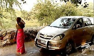 ---indian neighbourhood pub bhabhi cleaner car..{uncut ex...