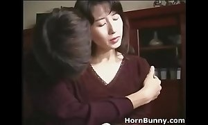 Japanese mom and laddie accommodation billet solitarily