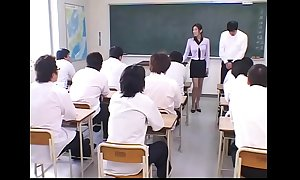 Japanese Bus fraudulent with an increment of Cum unseeable beat newcomer disabuse of the brush Students on all sides nigh Class