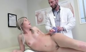 Juvenile blonde ungentlemanly seduces weaken to hardcore coitus and blowjob