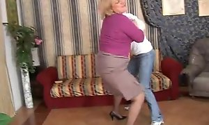 Naughty matriarch copulates her sprog added to she's filmed!