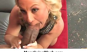 MomGoingBlack.com - Interracial Milf Broad in the beam Black Load of shit Porn 29