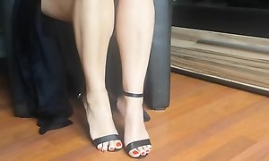 Morose feet together with brazen heels pensile - hotcams24 video