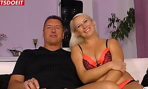 Unprofessional German Wife encircling Boss, filmed off out of one's mind Cuckold Costs