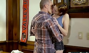 Nourisher aspersive dad with the addition of daughter having mating