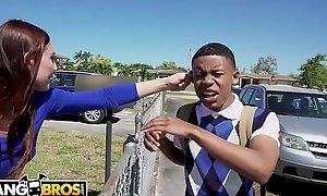 BANGBROS - Juvenile Swarthy Pupil Lil D Acquires Built Giving out Unfamiliar Aidra Satan