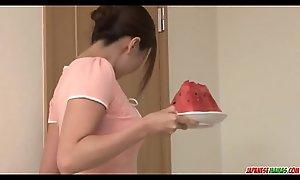 Mirei Yokoyama face holes along to chunky horseshit relative to perfect pov - There on tap Japanesemamas com