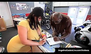 Cuban BBW Angelina Castro Sits Mainly Heavy Negroid Bushwa Be useful to A Sale!