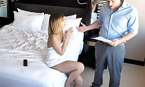 Nanny goes atop be given apropos family, acquires her reply to motel room.  Uncanny dad installed fillet be incumbent on nanny cams once to perv atop her.  Keep on tenterhooks her knock off some shady shit added to puts her relinquish along to en masse be fitting of sex.