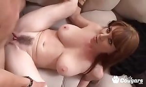 Mature milf rayveness gets a humidity tax shot above their way hairy whirlwind