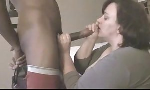 Mature bbw bonks youthful black flannel in guest-house room in the long run b for a long time costs is away