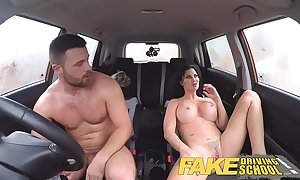 Fake kinetic bus accidental youthful boy seduced hard by his busty milf examiner