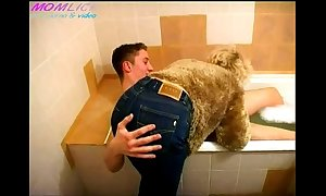 Momlick video  of age drilled crony about bathroom