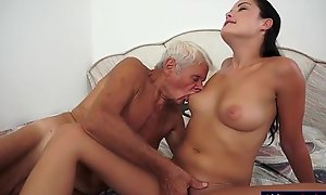 Dolly diore deepthroats absent a grandpas dong plus sits...
