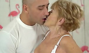Hideous granny likes xxx fuck - Malya together with Mugur