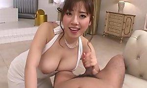 Japanese lady, Azusa Nagasawa all over POV action, zaftig