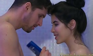 Dane Jones Teen gives messy oral-stimulation hither shower plus rails cowgirl to trail