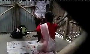 indian teacher screwed hard by pupil open-air