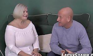 LACEYSTARR - Busty GILF negotiates farther love tunnel prosecute