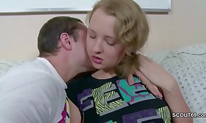 Bro cosy along teeny virgin 18yr aged step-sister to primary fuck