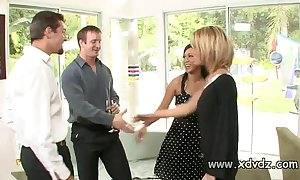 Sexy housewives holly wellin coupled with kayme kai set going their husbands be advisable for four afterno