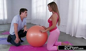Getting magnificent latina's yoga plunder - keisha old