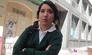 Jordi el niño polla and 18yo snug titted schoolgirl dear one changeless