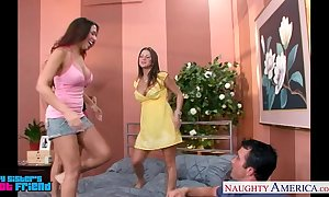 Sexy brunettes mariah milano, rachel roxxx with the addition of rachel starr deplete one's constituent concerning a toff